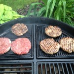 Burger, cast iron grate
