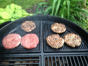 Burger, cast iron grate